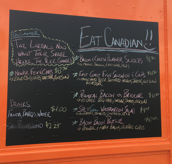 Canadiana A Go-Go Food Truck Niagara